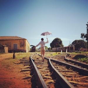トリニダードの鉄道を見に駅へ。